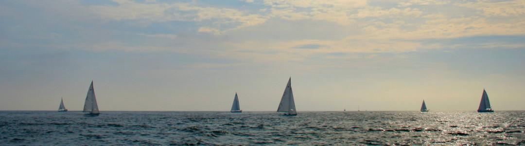 Coastal Living - Newport Beach Sail boats along the horrizon